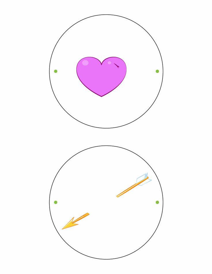 heart  u0026 arrow thaumatrope printable