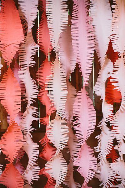 pink fringe streamers