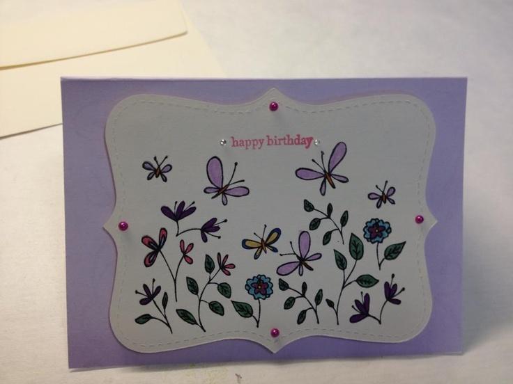 Homemade Birthday Cards For Grandma ~ Birthday card for my grandmother homemade crafts pinterest