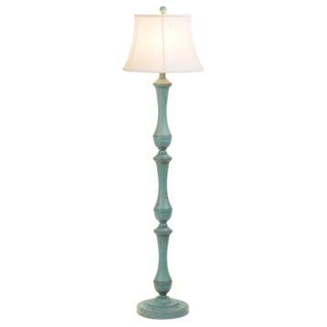 turquoise hadley floor lamp kirkland39s home garden With kirklands blue floor lamp