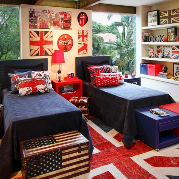 Contato legal ideias de decora o para o quarto de adolescente - Deco kamer stijl engels ...