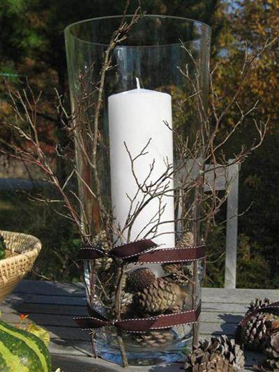 Twig Hurricane Centerpiece Crafts Pinterest