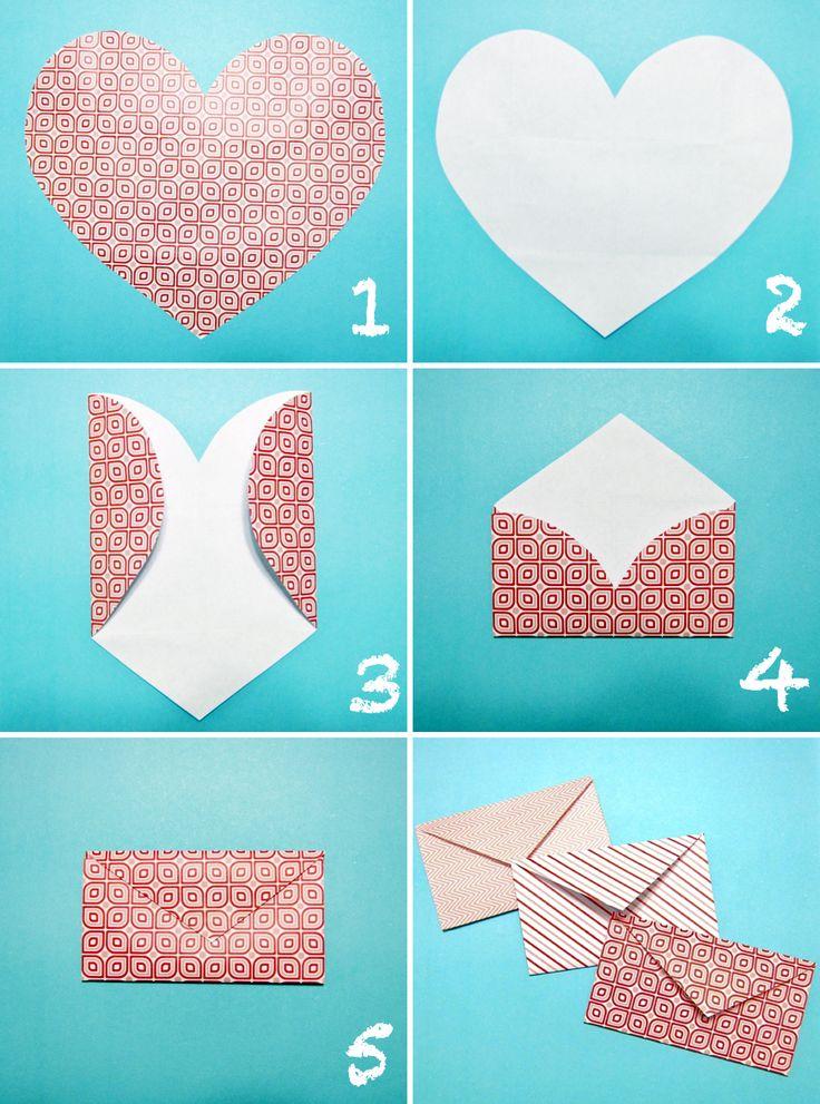Crafts DIY:Heart Envelopes