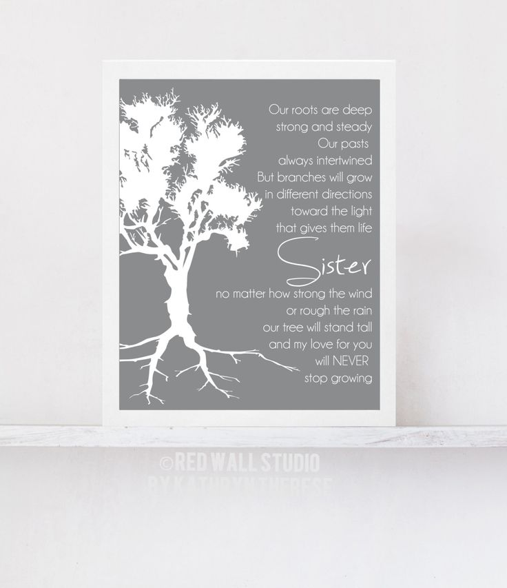 Gift for Sister Birthday Wedding Gift for Sister by RedWallStudio, USD18 ...
