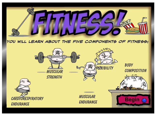 components of personal fitness