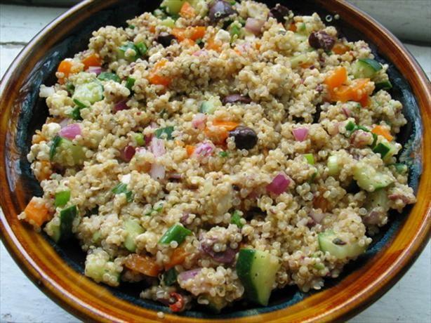 Quinoa Greek Salad | Favorite Recipes | Pinterest