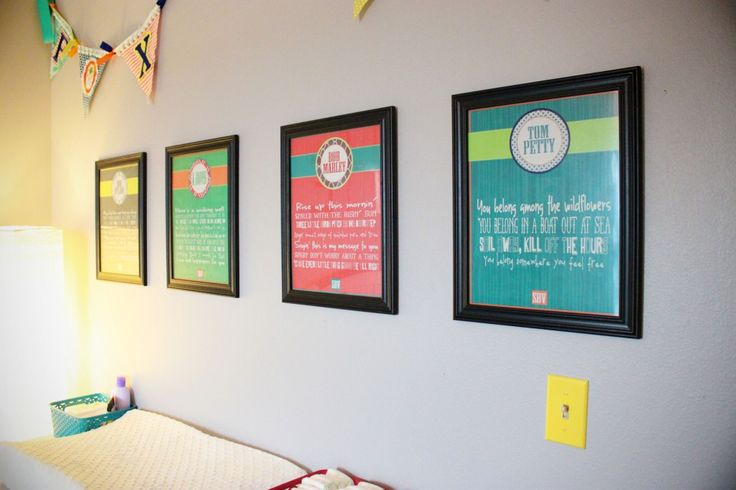 Custom Song Lyric Prints - love the idea of displaying your favorite song lyrics in the nursery!
