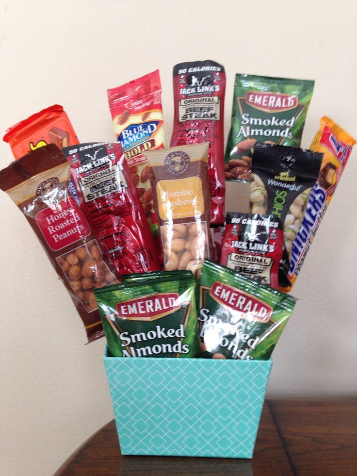 Birthday Gift Basket For Husband : Husband snack birthday gift basket my projects