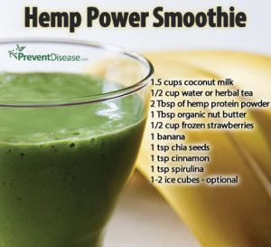 Hemp Power Protein Smoothie Recipe | Detox | Pinterest