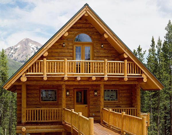 Cute montana log homes log cabin homes pinterest for Montana home builders