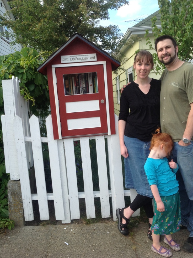 Steve and Ellie Peck. Bremerton, WA. We want to change the face of this neighborhood and lift up our community! With the new park across the street and lots of pedestrian traffic this is a great place for Bremerton's 1st Little Free Library. Steve built this library and did a phenomenal job with every detail. From roofing to weather stripping our library is rock solid and Designed to last! This was his birthday present to his wife Ellie and she is thrilled to have this in her front yard.