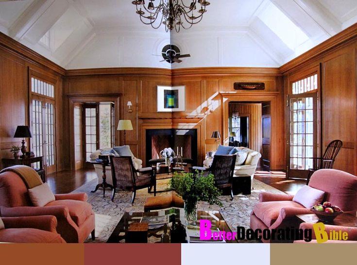wood paneling furniture layout living room pinterest