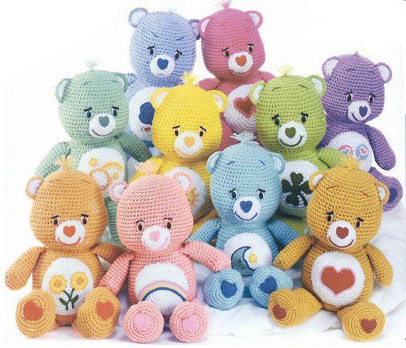 Amigurumi Care Bears Pattern : Care Bear amigurumi crochet doll pattern by room65 on Etsy ...