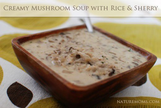 Creamy Mushroom Soup with Rice and Sherry minus the butter & cream # ...