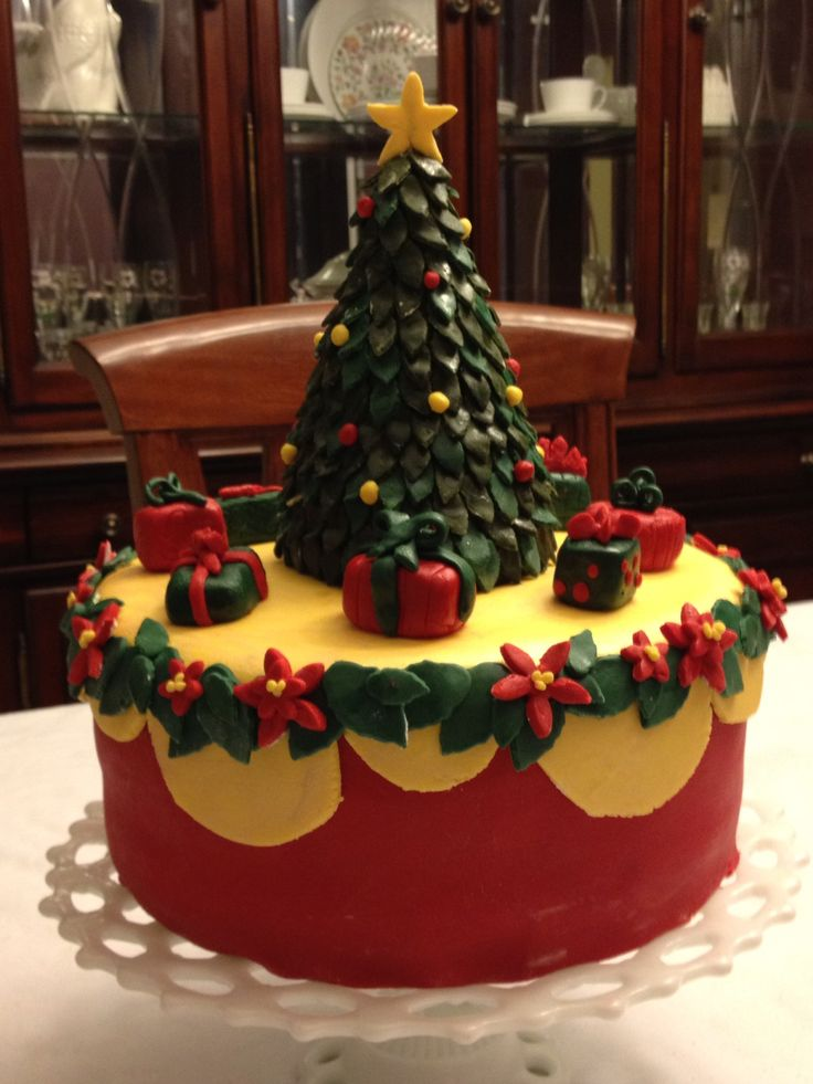 christmas fondant cakes
