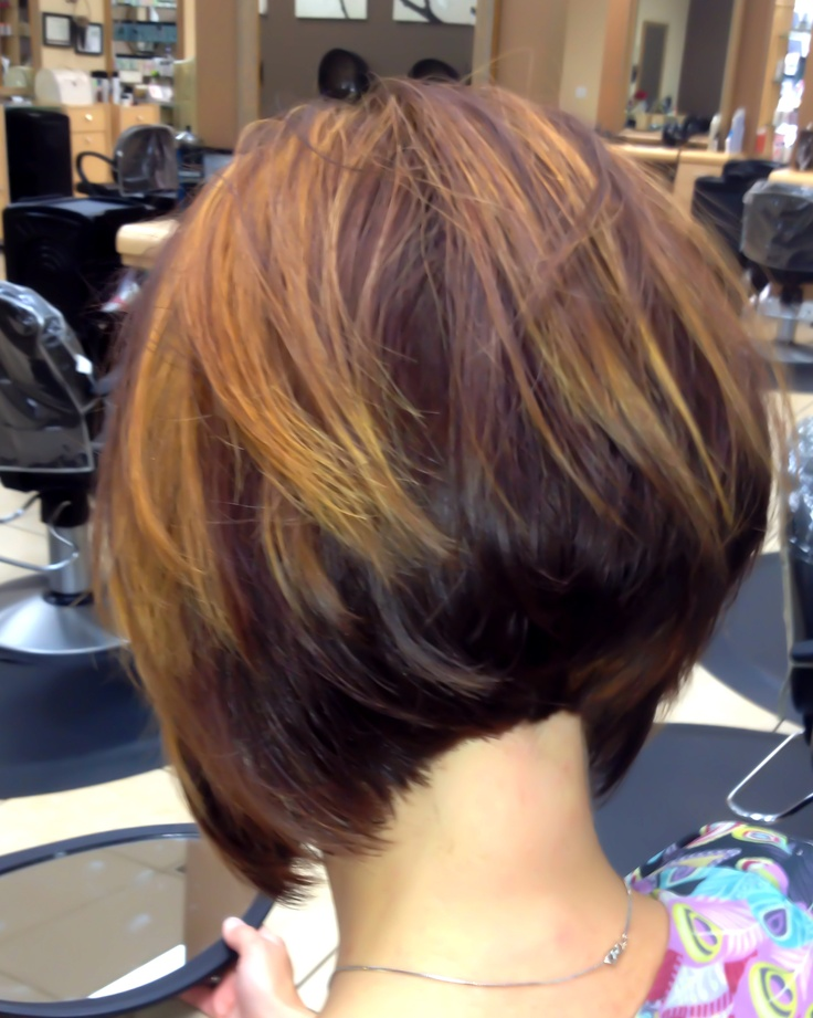 LINE BOB Stacked hair