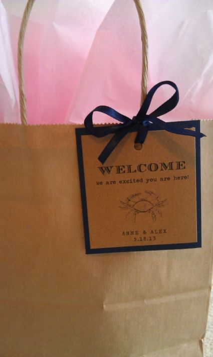 Wedding Gift Bag Ideas For Hotel Guests : wedding gift bags for hotel guests Welcome Tags for Guest Bags from ...