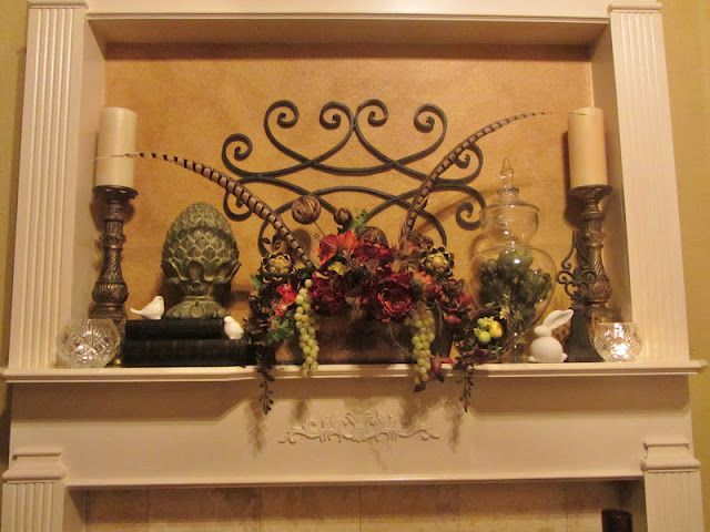 mantel tuscan mediterranean decorating ideas pinterest