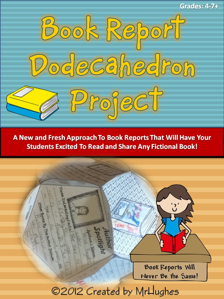 dodecahedron book report template