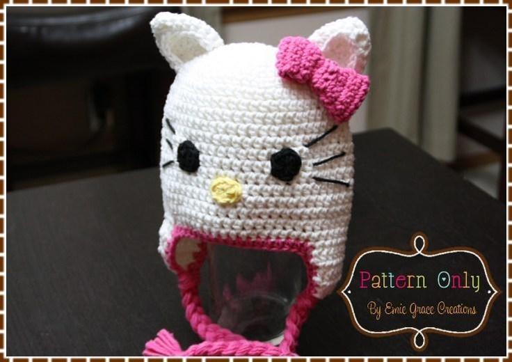 Crochet Kitty Cat Hat Pattern : Cat Hat Crochet Pattern - HELLO KITTY DIY & Crafty ...