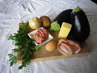 Brunġiel Mimli - Stuffed Eggplant | Food for the Malteser | Pinterest