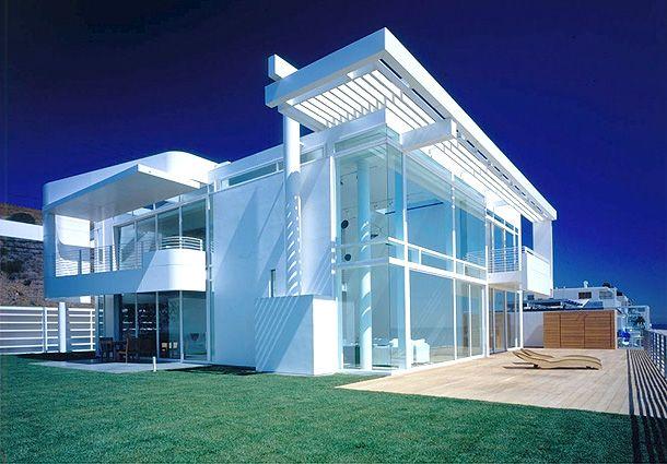 Malibu beach house by richard meier architectured pinterest