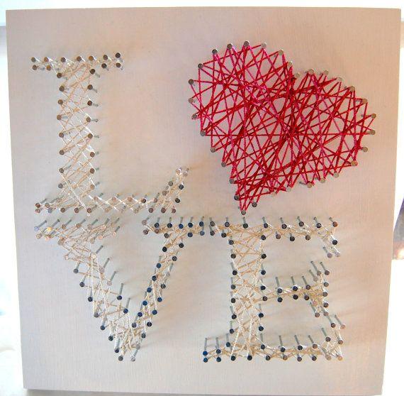 String Art ~ Custom Wall Art ~ Personalized String Art ~ Wedding Gift ...