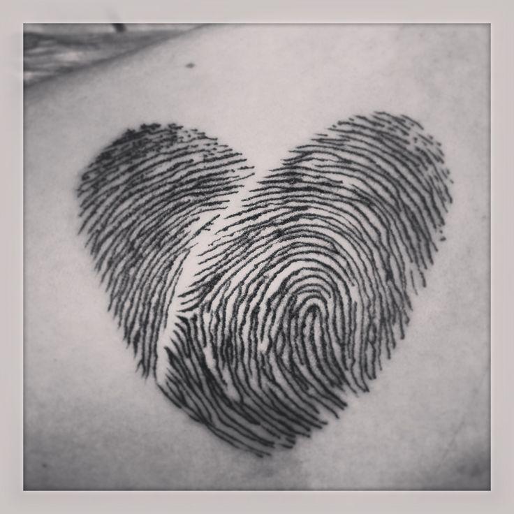 fingerprint heart tattoo tattoos pinterest. Black Bedroom Furniture Sets. Home Design Ideas