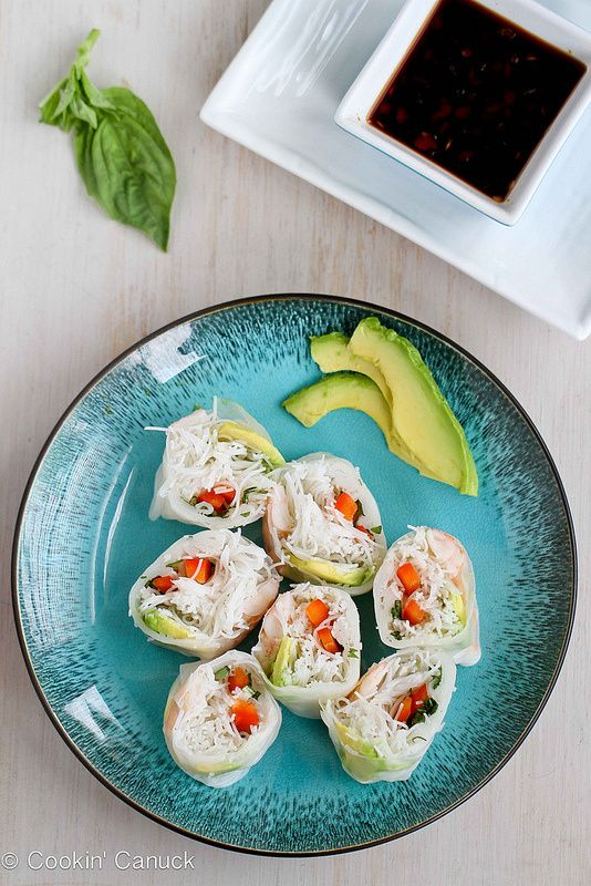 Summer Vegetable Rolls With Rice Noodles Recipe — Dishmaps