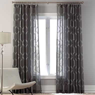 Kya rod pocket sheer panel jcpenney ideas for places for Jcpenney living room curtains