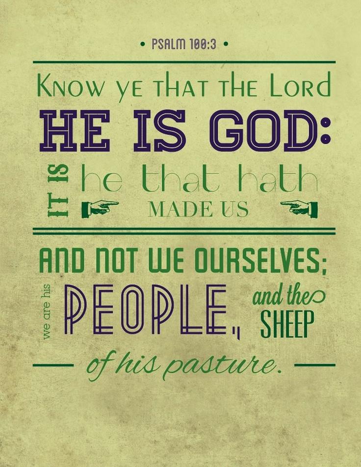 Psalm 100:3