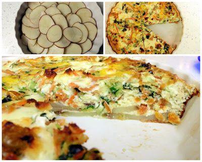 Veggie Quiche with Potato Crust (a.k.a Eggie Cake) | Trainer Momma