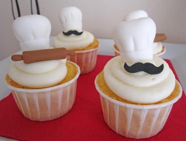 Chef cupcakes  Adorable!