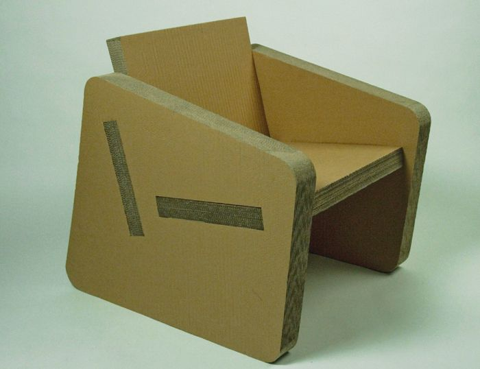 Cardboard chair papers pinterest