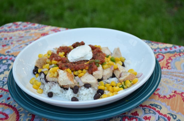 Grilled Chicken Mexican Rice Bowl | Recipe
