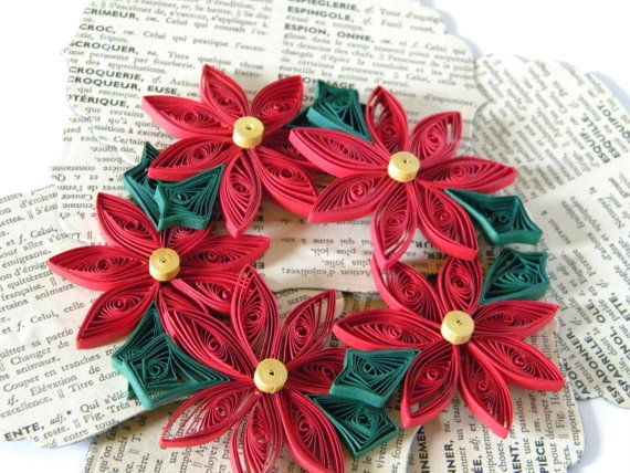 Quilled Creations Poinsettia quil...