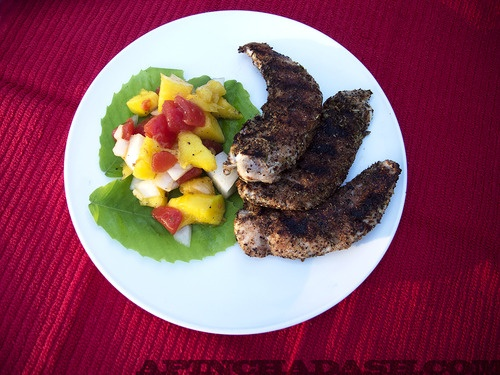 Jamaican Jerk Chicken with Mango Salsa Perfect meal to cook out on the ...