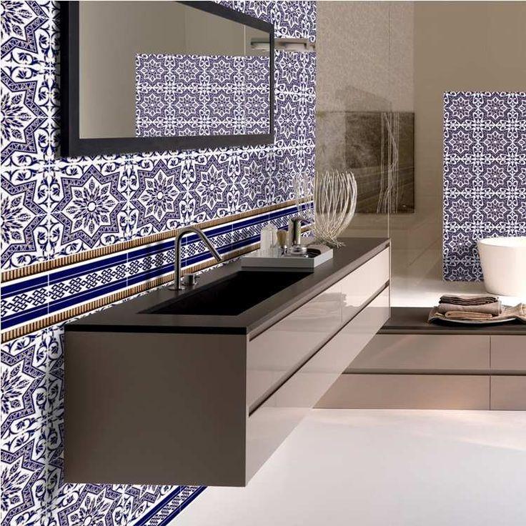 Zellige Marocain Moderne. Papier Peint Textur Motif Marocain Chez ...