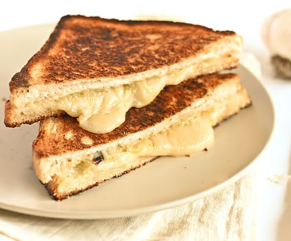 Roasted Garlic and Gruyere Grilled Cheese