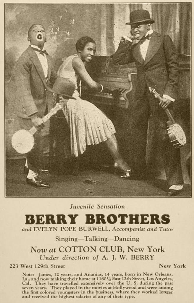 The Berry Brothers were an African-American exotic, acrobatic soft