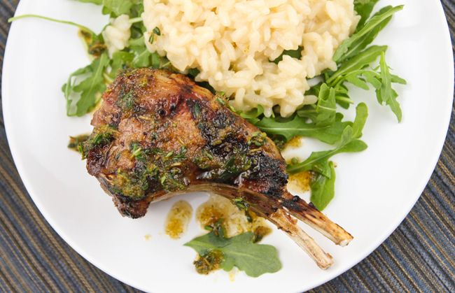 Pip & Ebby - Pip & Ebby - Grilled lamb chops with Meyer lemon risotto...