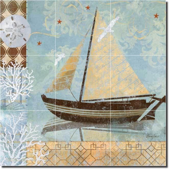 Nautical tile murals joy studio design gallery best design for Ceramic mural designs