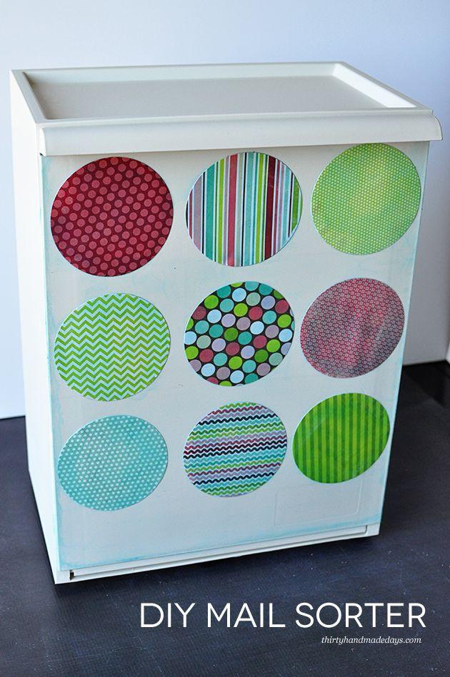 Home Organization: DIY Mail Sorter