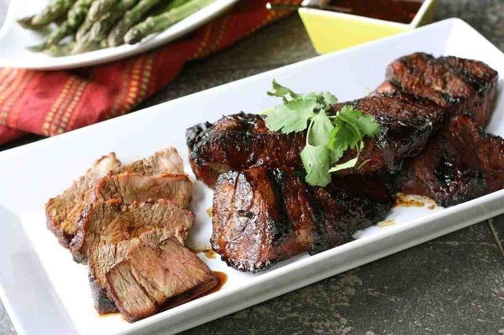 ... grilled shrimp with molasses guava glaze sirloin steak chili chili