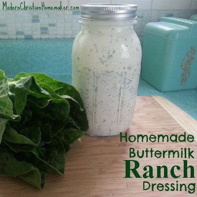 Homemade Buttermilk Ranch Dressing. This recipe includes actual ...