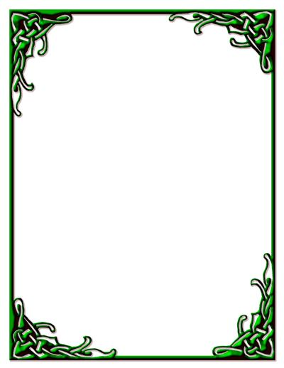 The gallery for --> Green Celtic Knot Border
