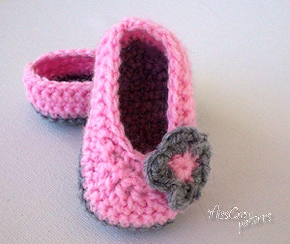 Crochet Baby Ballet Shoes Free Pattern