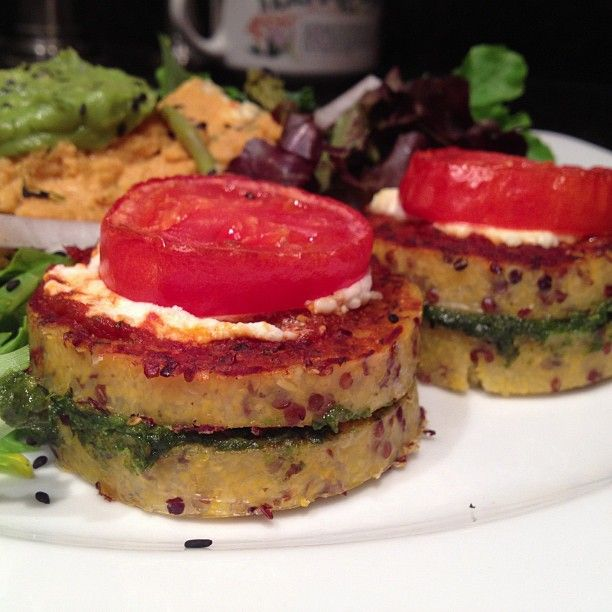 Goat Cheese And Polenta Stack Recipe — Dishmaps