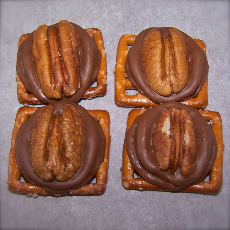 Rolo Pretzel Turtles... My best friends mom makes these and sends them ...