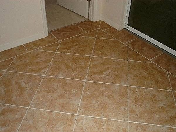 How to lay tiles diagonally for Laying flooring